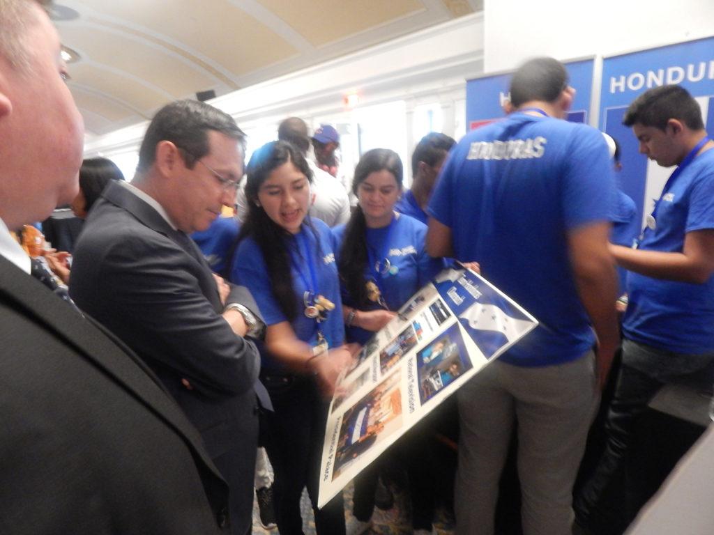 With Honduran Ambassador to the US