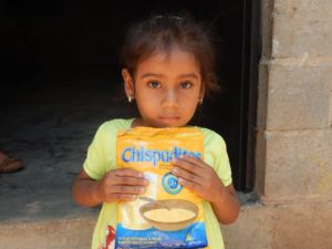 girl with chispuditos